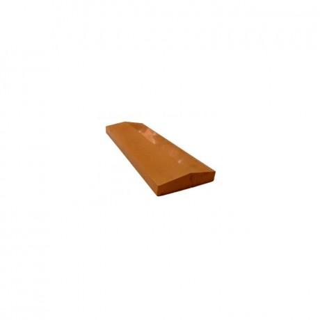 Крышка забора широкая (глянец) коричневый