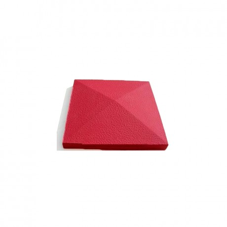 Крышка столба большая (шагрень) красный