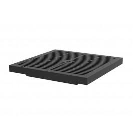 Решетка пластиковая SteeStart 300x300 А15 черная