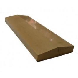 Крышка на забор бетонная ( широкая,глянец)