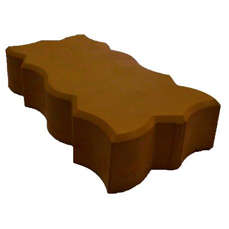 """Брусчатка """"Волна - большой зигзаг"""" тёмно-коричневый"""